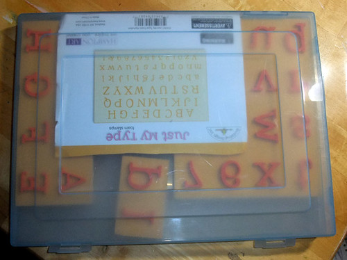 foam alpha stamp storage closed