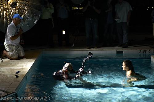 Underwater model shoot