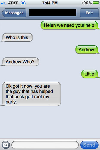 Txts from New York - Helen chats with Andrew