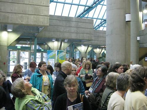 Line outside market