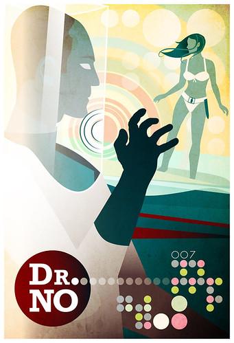Reelizer 007 James Bond Doctor No by Gabriel Aronson Movie Poster