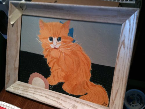 Kitty painting