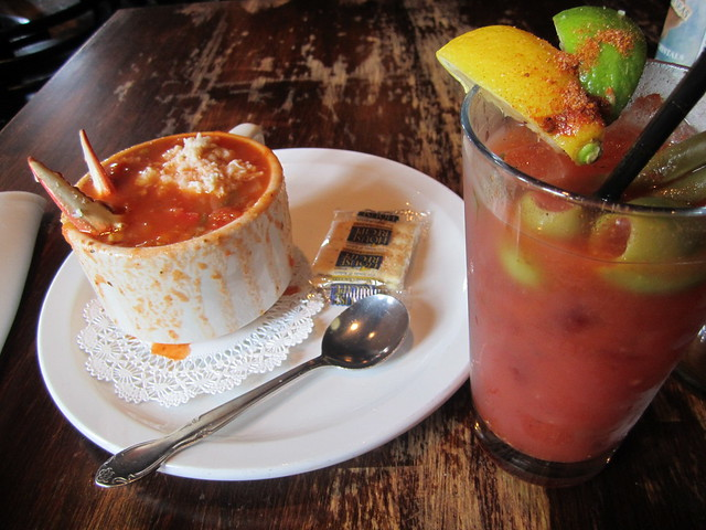Bloody Mary and Crab Soup