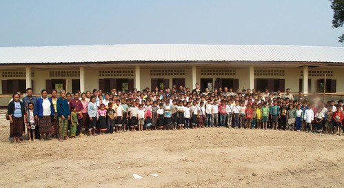 The school the villagers built with their own labour