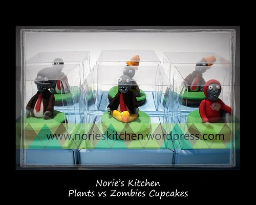 Norie's Kitchen - Plants vs Zombies - Cupcakes -Zombies team