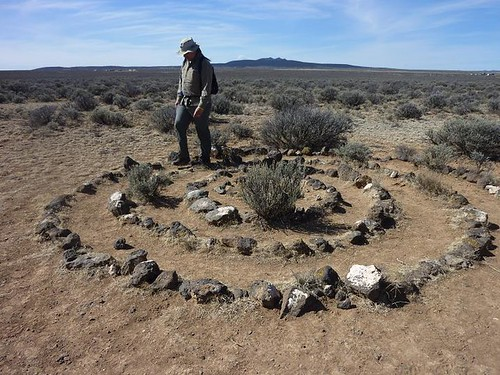 NM, Rio Grande Gorge Bridge 26 - stone circle