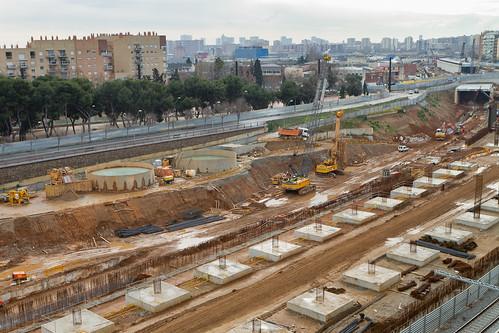 Zona estació de Sant Andreu - ELEVADO - SUR- 31-01-11