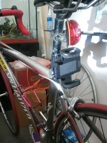Phone mount on seatpost
