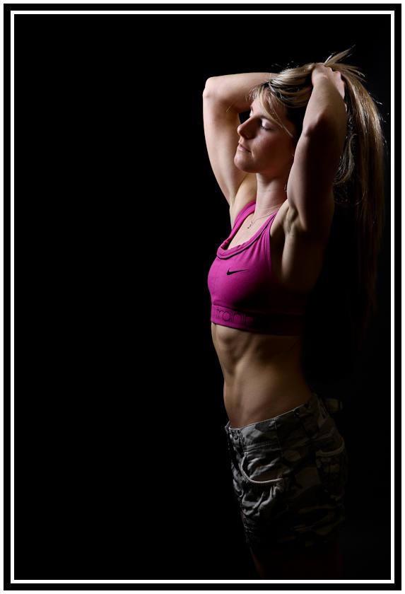 fitness model in studio
