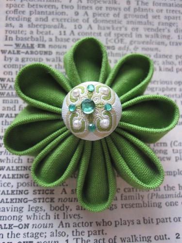Etsy craftsbyquyen Kanzashi Style Fabric Flower Pin Clip $5