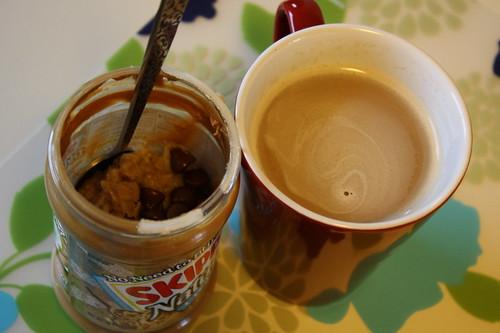 oats in a jar, coffee