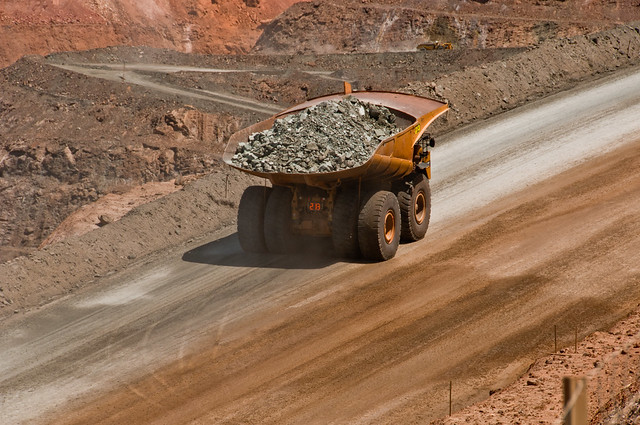 240 tons of ore comes out of the Super Pit