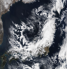 NASA Satellite Image of Japan Captured March 1...