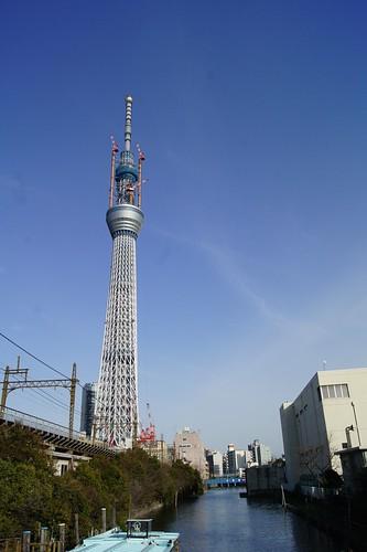 東京スカイツリーと北十間川