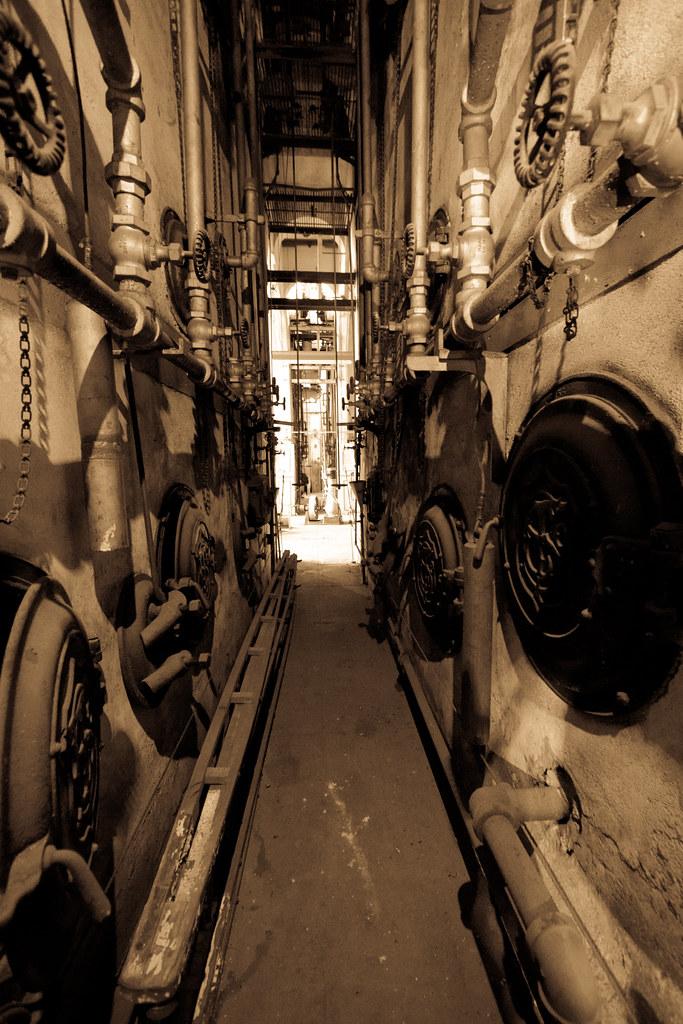 Furnace room corridor