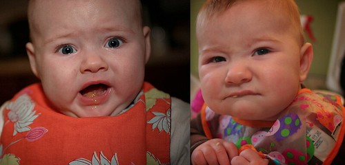 a comparative study of first food faces.