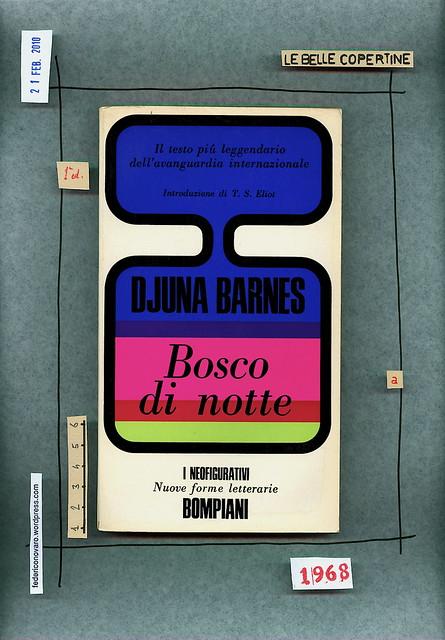Djuna Barnes, Bosco di notte, Bompiani 1968. copertina