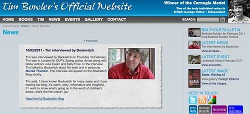 Tim Bowler news
