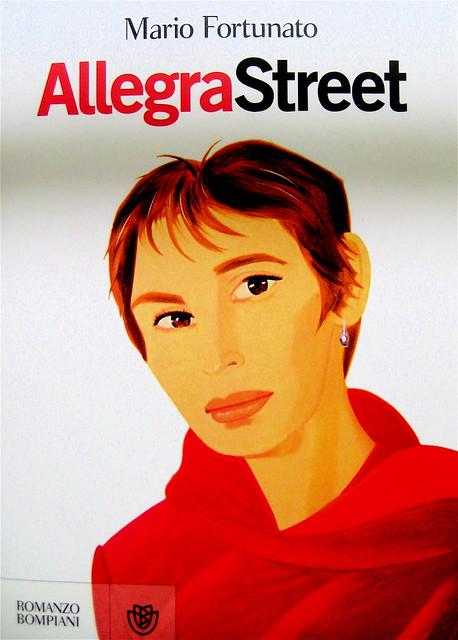 Mario Fortunato, Allegra Street, Bompiani 2011; copertina design A+G, immagine di copertina: Anne Lyon, di Alex Katz 1994, progetto grafico di Polystudio;  prima di sovracop. (part.), 1