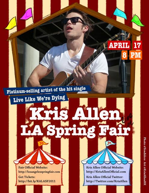 Kris Allen LA Spring Fair 2011 promo flyer