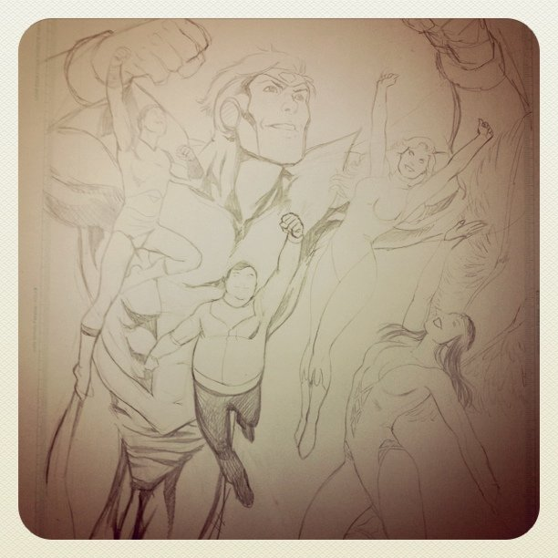 Finishing pencils ! Inks tomorrow! 'Night to All! #DCComics #Comics #LegionOfSuperHeroes