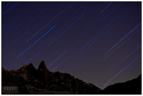 Stars over Les Drus by Weymuller Photography