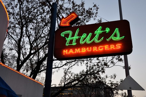 Hut's Hamburgers Neon Sign