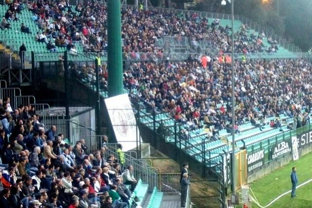 Italian Soccer Fans in Siena