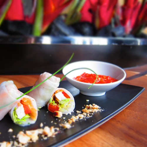 Vietnamese Rice Paper Rolls @ Fire at the W Retreat and Spa Bali by bloompy