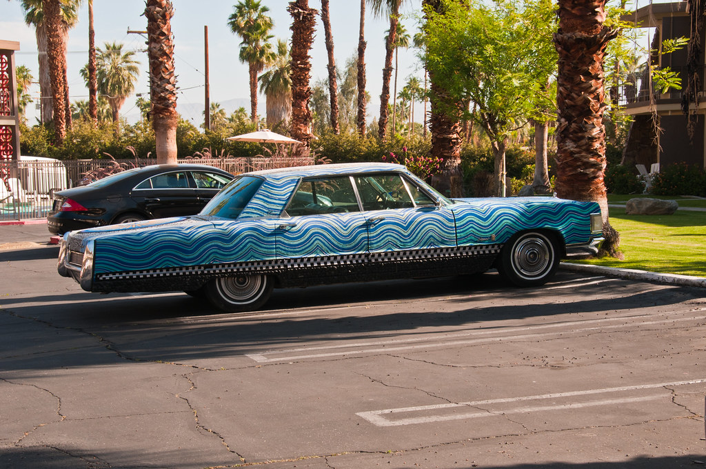 """Personalised"" car in Palm Springs"