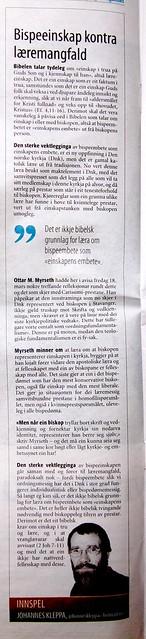 Faksimile frå DagenMagazinet