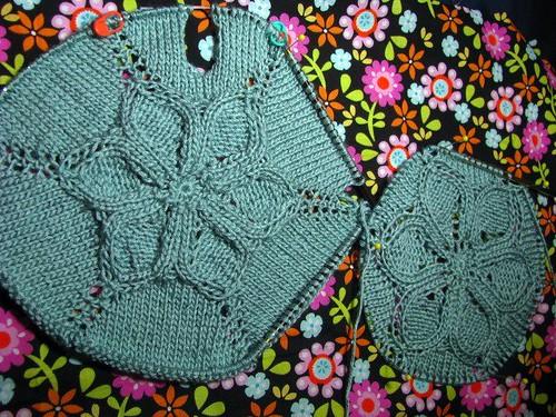 Test Knit:  Flower T-Shirt Seamless Front & Back Flowers