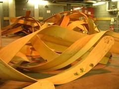 timber in loading bay