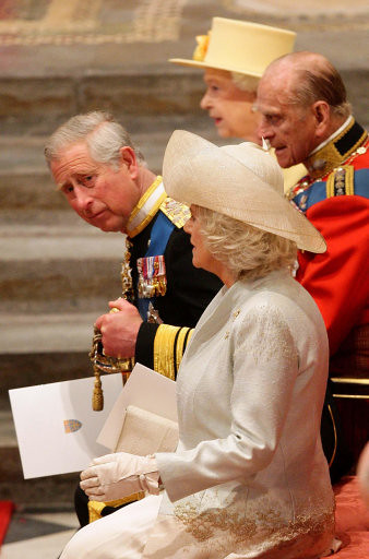 The Queen and The Prince of Wales in Westminster Abbey