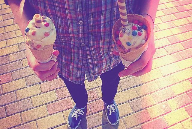 the ice-cream season began