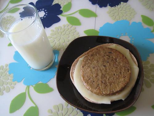 skim milk, boca mushroom veggie burger