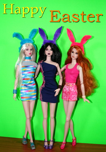 Happy Easter From The Bunny Triplets