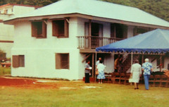 Ribbon Cutting Ceremony of the Restored Lujan House, 1982