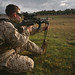 Marine rifleman attempts new firing position