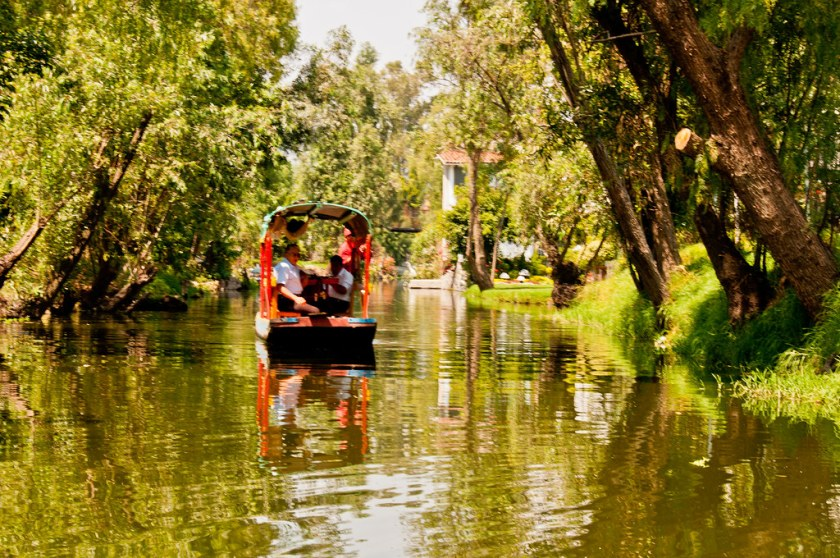 On the canals of Xochimilco