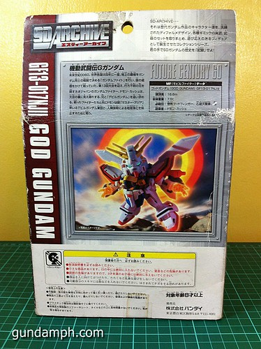 SD Archive God Gundam (8) Out Of Box Review