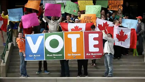 Vote Mob @ Memorial University of Newfoundland