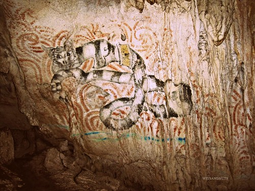 Artwork in Hinagdanan cave, Bohol