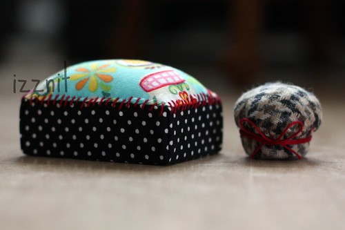 Box and Bottle Cap Pincushions