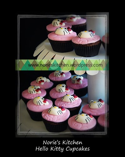 Norie's Kitchen - Hello Kitty Cupcakes