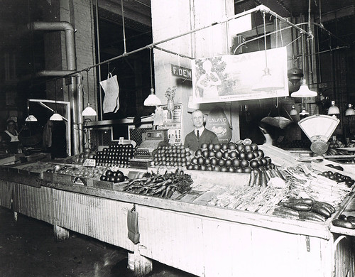 Frank and Mary's produce stand at the Indianapolis City Market