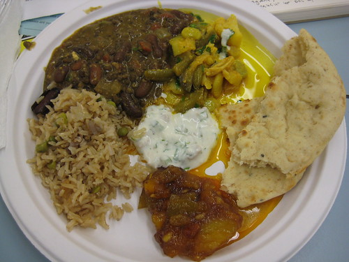 Indian food from Indian cooking class