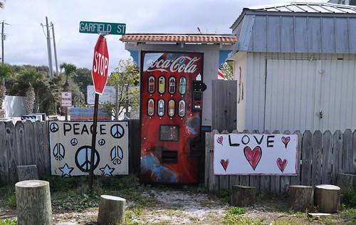 Grayton Beach, Fla. - Peace, Coke, Love
