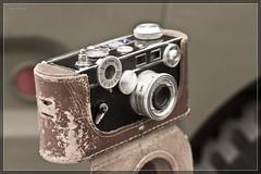 Vintage camera on tripod