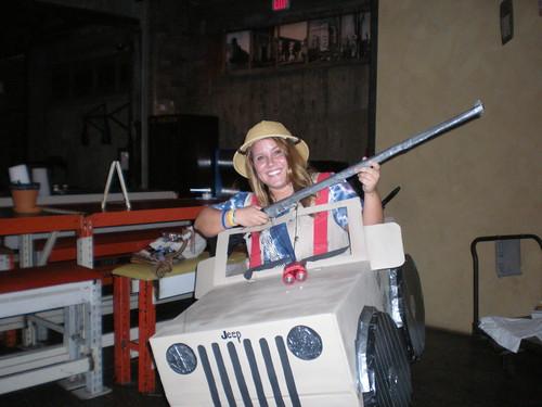 Safari Hunter & Her Jeep
